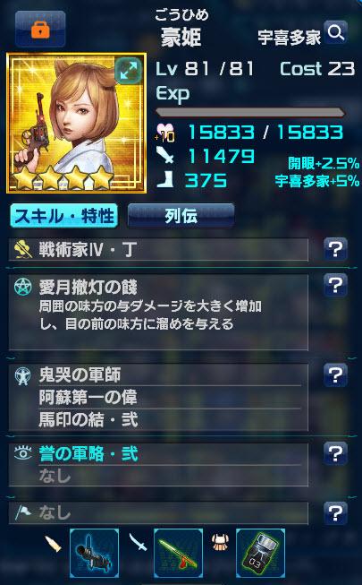 豪姫のスキル