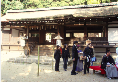 宇治上神社の結婚式